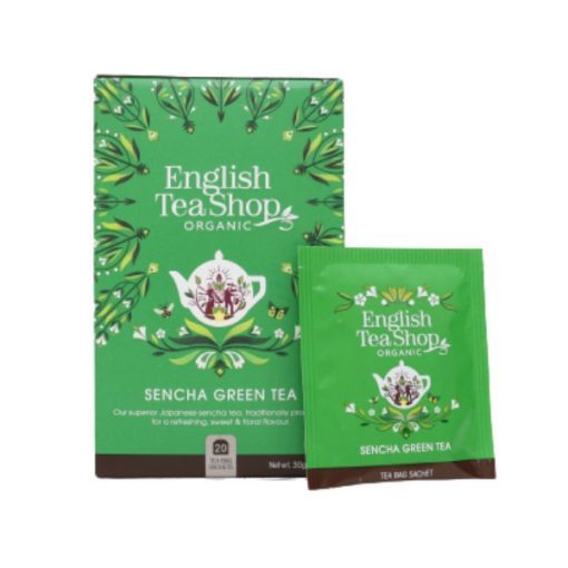 Japán Zöld Sencha Bio Tea - filter, 20 db, English Tea Shop, 30 g