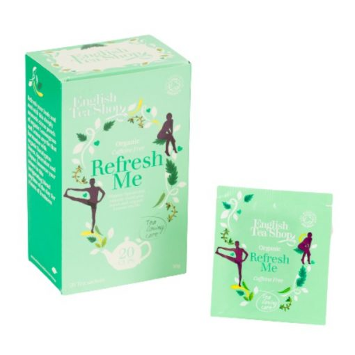 Refresh Me Frissítő Koffeinmentes Bio Tea - filter, 16 db, English Tea Shop, 32 g