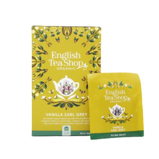 English Tea Shop Vaníliás Earl Grey Fekete Bio Tea - filter, 20 db, , 40 g