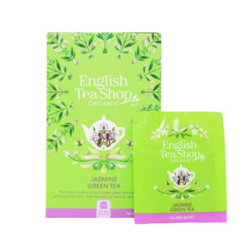 Zöld Bio Tea Jázminnal - filter, 20 db, English Tea Shop, 40 g